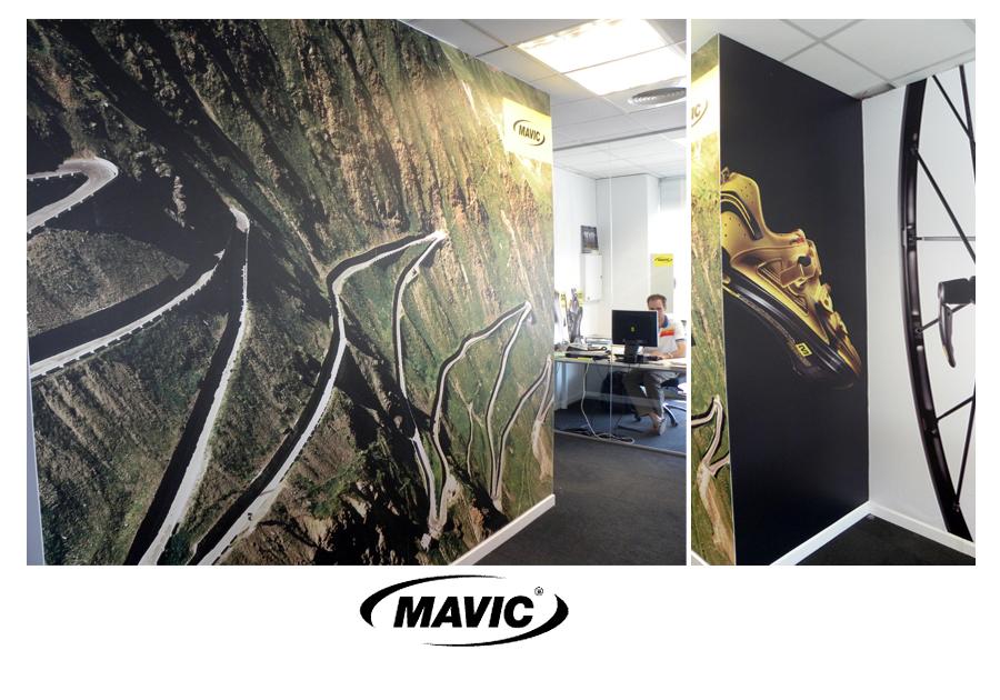 Mavic rotulación oficina